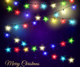 Shiny christmas lights vector