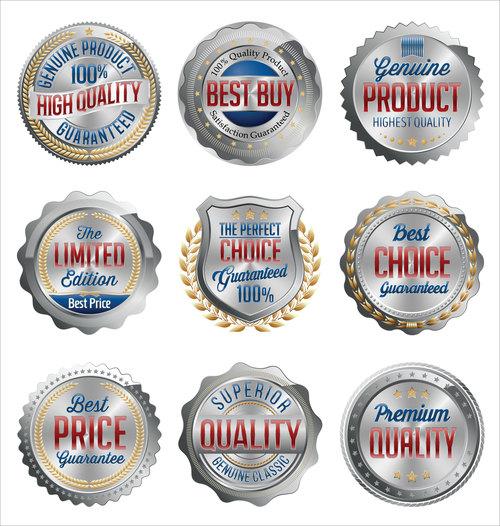 Silver sale label sticker vector