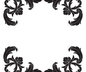 Simple decorative floral pattern vector