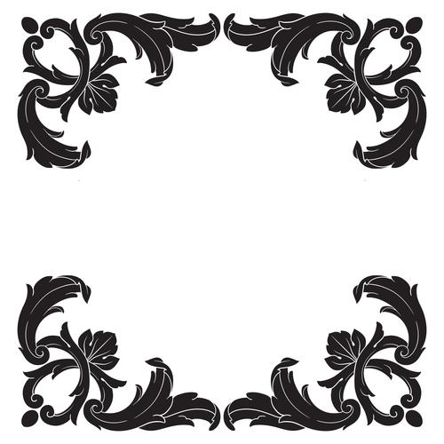 Simple decorative floral pattern vector