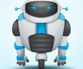 Single wheel robot vector