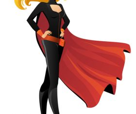 Slim beautiful comic woman vector