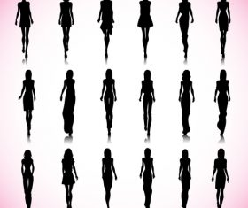 Slim female silhouette vector