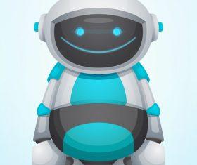 Smiling robot vector