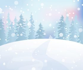 Snow scene illustration vector