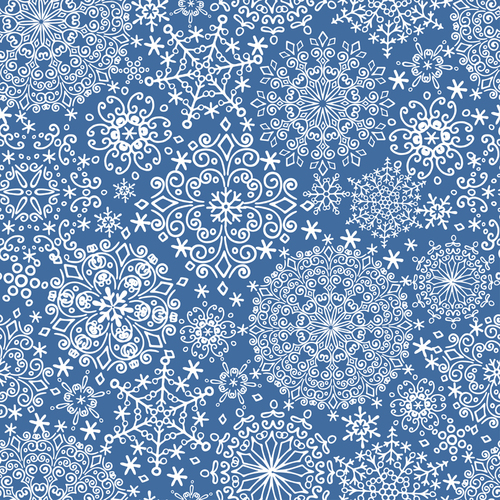 Snowflake background pattern vector
