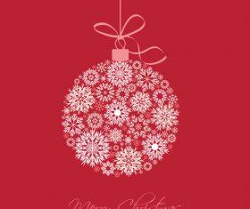Snowflake christmas balls vector