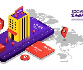 Social banking concept illustration vector