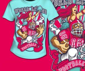 Sports illustration t-shirt printing pattern design vector