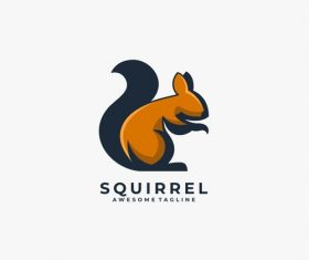 Squirrel logos vector