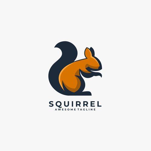 Squirrel logos vector