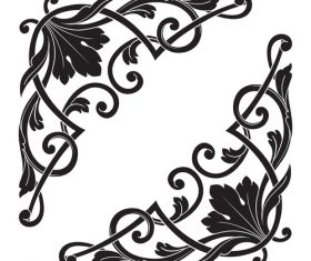 Symmetrical decorative floral pattern vector