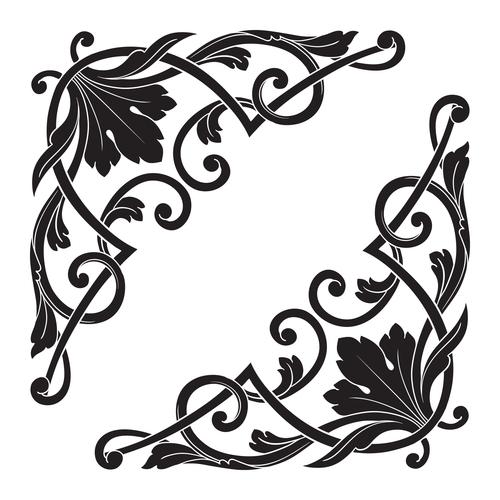 Symmetrical decorative floral pattern vector