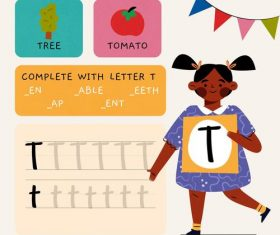 T letter word meaning and spelling vector