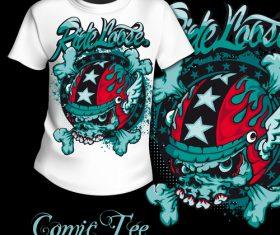 T-shirt comic printing pattern design vector