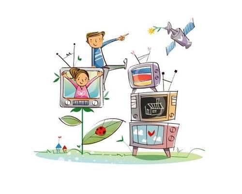 TV and children concept illustration vector