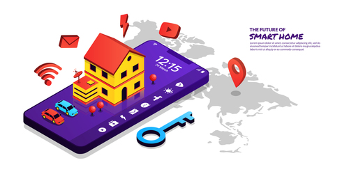 The future of smart home concept illustration vector