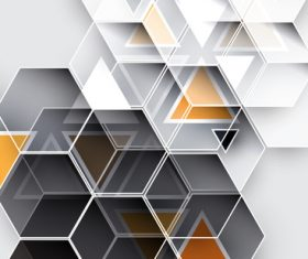 Three color hexagon abstract background svector