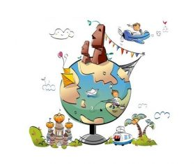 Travel the world concept illustration vector