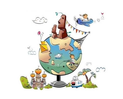 Travel the world concept illustration vector