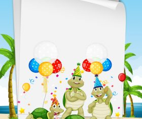 Turtle party vector