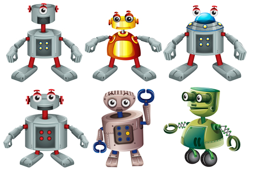 Various forms of robot vector