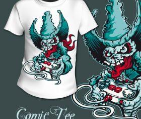 Video game t-shirt printing pattern design vector