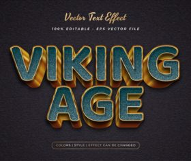 Viking age embossed texture effect font text vector