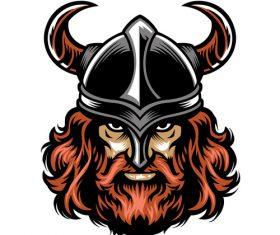 Viking warrior avatar vector