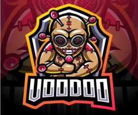 Voodoo esport mascot logo vector
