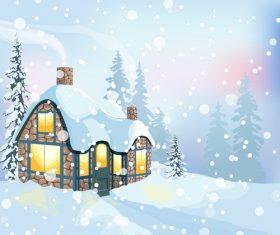Warm stone house illustration vector