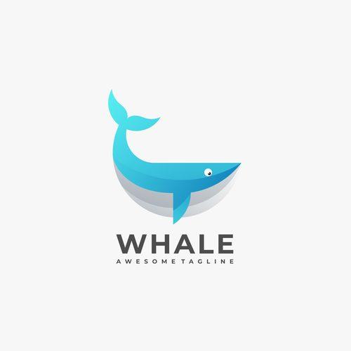 Whale logos vector