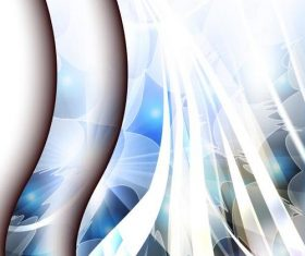 White blue arc abstract background vector