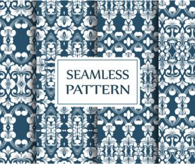 White floral seamless pattern background vector