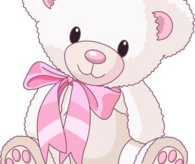 White teddy bear vector