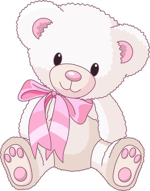 White teddy bear vector