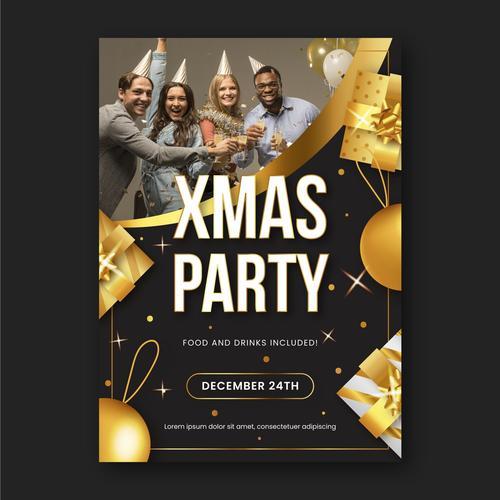 Xmas party vector