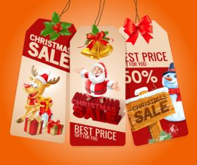 Xmas sale tag vector