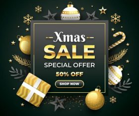 Xmas special offer card vector