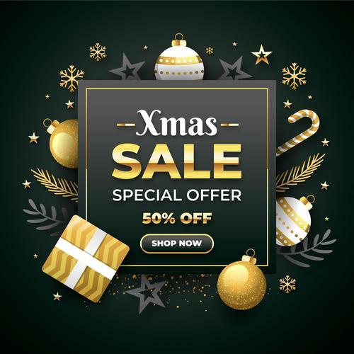Xmas special offer card vector