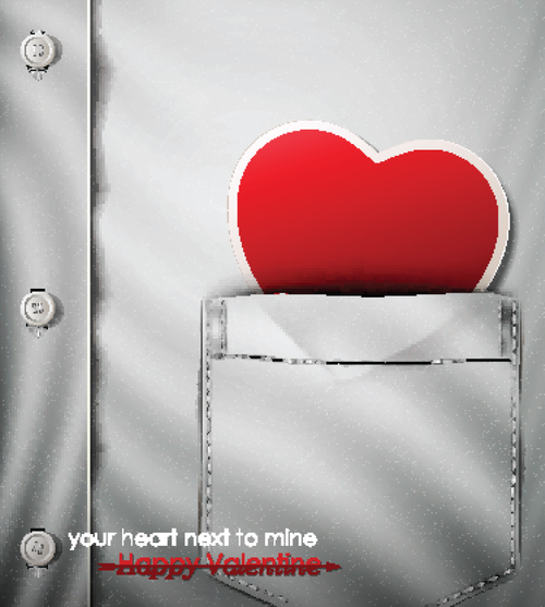 Your heart next mine vector