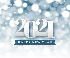 2021 white blurred new year background vector