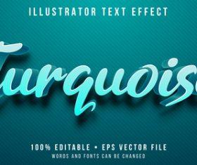 3d art editable text style effect vector
