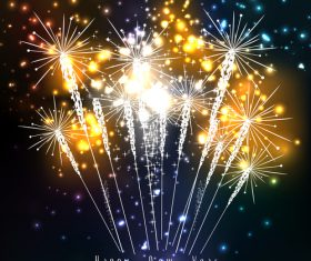 A riot of colours holiday fireworks vector