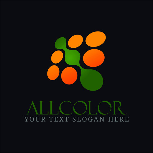 Abstract allcolor logo design vector