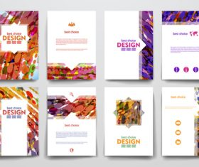 Abstract art cover brochure vector