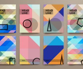 Abstract background geometric brochure vector
