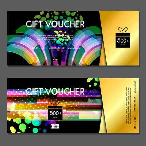 Abstract background gift card voucher vector