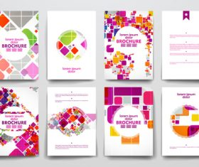 Abstract colorful cover brochure design vector