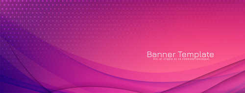 Abstract colorful wave banner elegant design vector